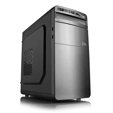 Aufruest-PC 891 – Pentium G4560 – Multimedia DualCore! Intel Pentium G4560 2× 3500 MHz, 4096MB DDR4, Intel HD Graphics 610, CardReader, GigLAN, 7.1 Sound, USB 3.1
