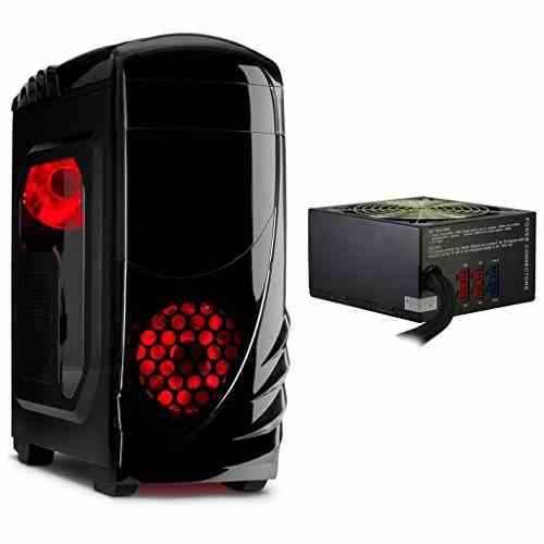 K-2 GTS Gamer ATX MidiTower Gehäuse mit 750 Watt Gamer Netzteil & LED Lüfter USB 3.0 Cardreader