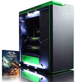 VIBOX Legend 36 Gaming PC – 4,0GHz Intel i7 8-Core CPU, 2x GTX 1080, leistungsfähig, Wassergekühlter Desktop Gamer Computer mit 2 Spielgutscheine (Inklusive For Honor Code), Windows 10, Weiß Innenbeleuchtung, lebenslange Garantie* (3,2GHz (4,0GHz Turbo) Superschneller Intel i7 6900K Acht 8-Core Prozessor CPU, 2x Dual SLI Nvidia GeForce GTX 1080 8GB Grafikkarten, 32GB DDR4 3000MHz RAM, 500GB SSD, 3TB Festplatte, Corsair H100i GTX Wasserkühler, Corsair RM1000 Netzteil, NZXT H440 Gehäuse) -