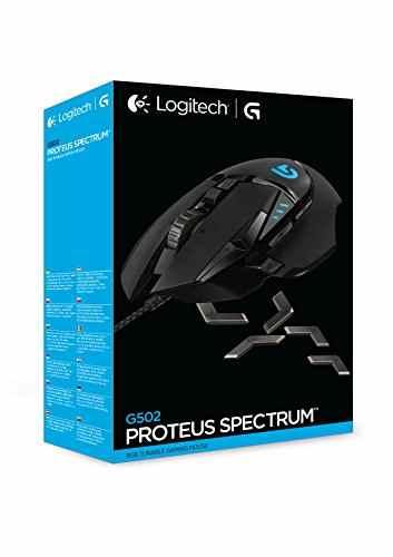 Logitech G502 Proteus Spectrum RGB Tunable Gaming Maus (mit 11programmierbaren Tasten) schwarz -