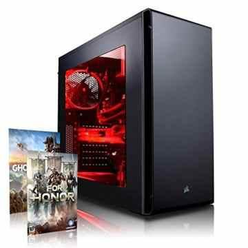 Megaport High End Gaming PC Corsair Edition Intel Core i7-7700K • GeForce GTX 1070 8GB • 250GB SSD Samsung 850 Evo • 16GB DDR4 • Windows 10 • WLAN • USB3.0 gamer pc computer gaming computer -