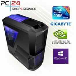 PC24 Gaming PC | Intel i7-7700K @4x4,50GHz | nVidia GF GTX 1080 mit 8GB RAM | 16GB DDR4 PC2133 RAM | Gigabyte GA-Z170X-Gaming 5 Mainboard | 600Watt 80+ ATX Netzteil | Windows 10 Pro | i7 Gamer PC -