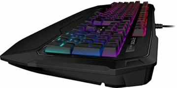 Roccat Ryos MK FX RGB Mechanische Gaming Tastatur (DE-Layout, Per-key, RGB Multicolor Tastenbeleuchtung, MX Key Switch RGB braun) -