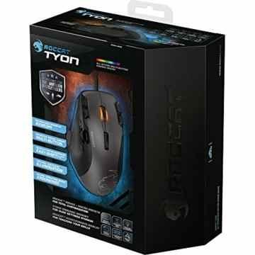 Roccat Tyon All Action Multi-Button Gaming Laser-Maus (8200dpi, 14-Tasten, USB) grau/schwarz -